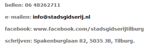 stadsgidserij contact